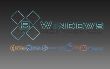 neon, creative, logo, minimal, os, windows 8, windows