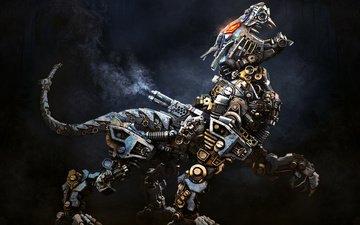 робот, животное, зверь, стимпанк, alekscg