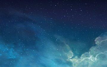 голубая, космическая, хорошенькая, лучшая, 7 ios, ios7, айфон, эппл, потрясающий, новая