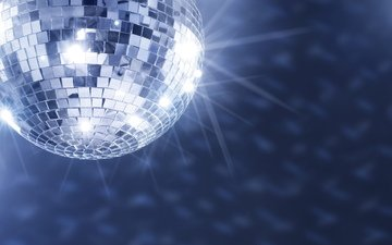 music, disco, disco ball, the glare from the ball, mirror