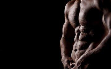 cubes, male, body, torso, wet, muscle
