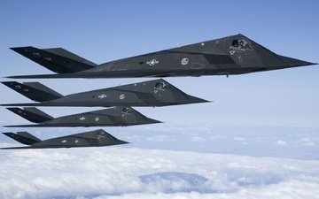 lockheed, the f-117, nighthawk, unobtrusive, shock