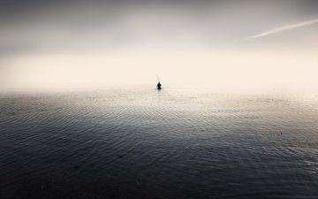 sea, people, minimalism