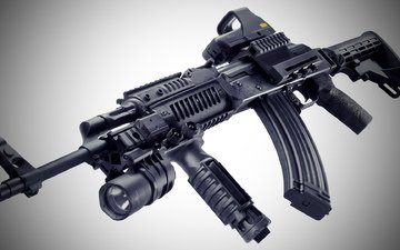 weapons, machine, tuning, picatinny rail, ak-47m