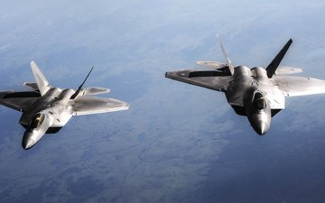 the sky, aircraft, f-22 [raptor, f-22 raptor