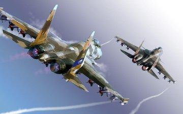 multipurpose, sukhoi, flanker-f, su-37