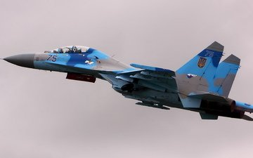 the plane, weapons, su27