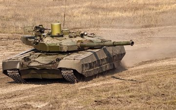 tank, the steppe, ukraine, т84у