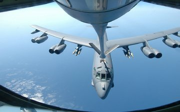 the ocean, bomber, usaf, b 52, air refueling