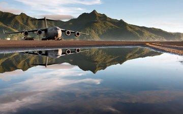 the plane, aviation, c-17 globemaster