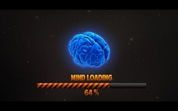 space, loading, brain, percentages, mind
