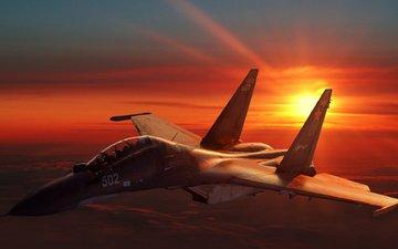 the plane, russian, soviet, su-30mk