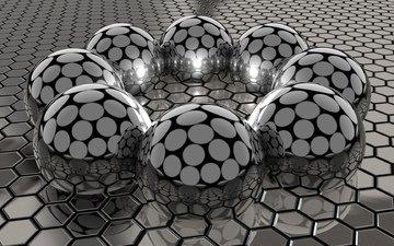 шары, соты, сталь, аттракцион