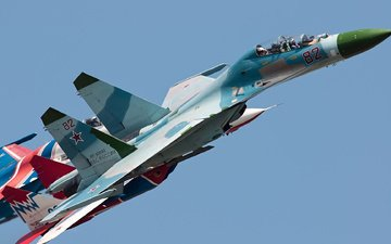 the sky, su-27