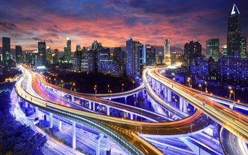 свет, ночь, город, азия, китай, гон-конг, гонконг, кнр
