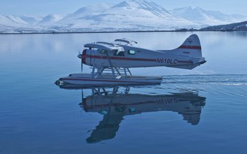 water, mountains, reflection, sweden, hydroplane