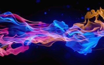 цвета, дым, абстракции, 3д