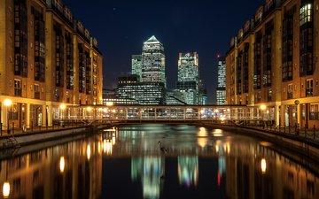 лондон, город, англия, docklands