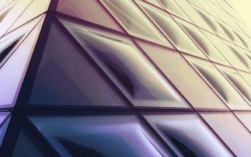 пирамида, стекло, мираж, cтекло