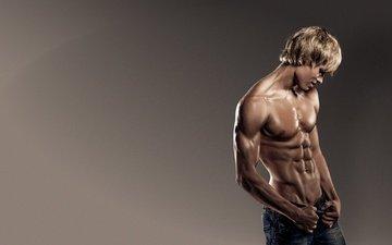 background, model, jeans, male, jock, relief, muscle, boy, nude, gay