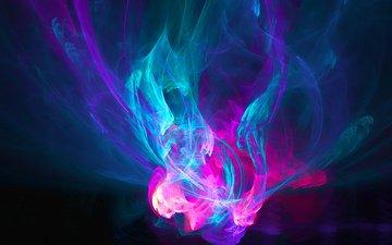 fire, purple, blue, patterns
