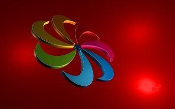 разноцветная звездочка