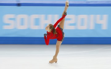 ice, russia, elegance, figure skating, sochi 2014, sochi 2014 olympic winter games, the xxii winter olympic games, yulia lipnitskaya, skater, spiral kerrigan