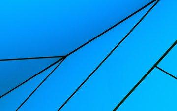 абстракция, обои, линии, синий, голубой, стрелка, угол, геометрия