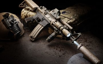 drops, machine, ar-15, assault rifle, hd wallpaper