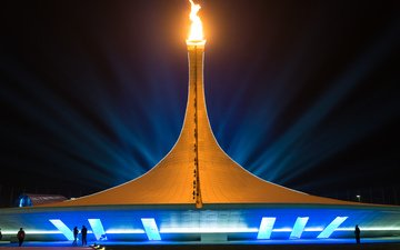 the city, russia, game, 2014, sochi 2014, sochi 2014 olympic winter games, the xxii winter olympic games, sochi, olympic, olympic flame cauldron, the olympic flame