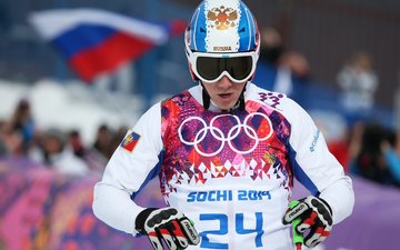 helmet, glasses, coat of arms, russia, flag, sochi 2014, sochi 2014 olympic winter games, the xxii winter olympic games, ski-cross, egor korotkov