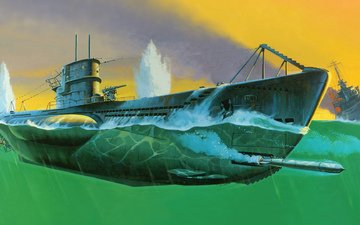 figure, battle, submarine, u - 99