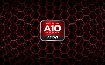 лого, краcный, amd, apu, a10