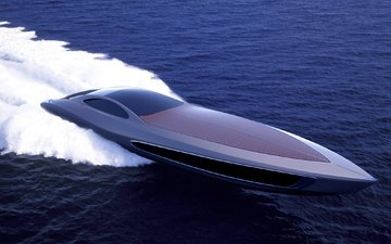the ocean, foam, standart craft 122, gray design, super yacht, quick