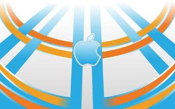 яблоко, телефон, компьютер, ноутбук, эмблема, гаджет, эппл
