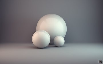 balls, abstraction, minimalism, rendering, condezine
