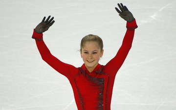 smile, ice, beauty, russia, yulia lipnitskaya, skater, champion