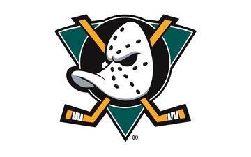 маска, хоккей, клюшка, логотип, игра, спорт, нхл, anaheim ducks