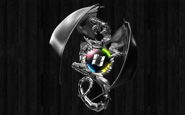дракон, лого, винда