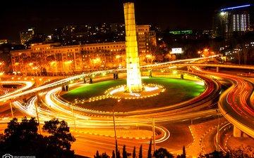 грузия, тбилиси, hero memorial, ноч