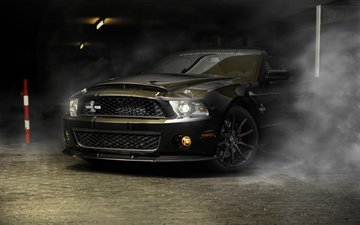 полосы, дым, черный, авто, мустанг, gt500, sportcar, шелби, фон.jpg