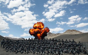 men, the explosion, army, afghanistan, military, marines