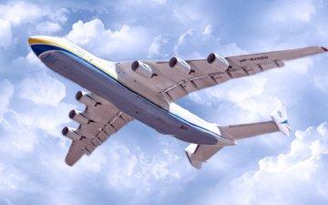 the plane, the an-225, mriya, cargo, ан225, cossack, antonov