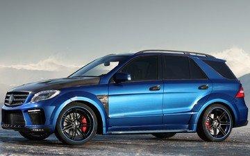 синий, top car, ml 63amg, inferno, мерс