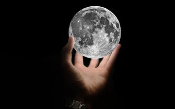 wallpaper, hand, background, the moon, black, satellite, widescreen, moon, hd wallpapers, full screen, fullscreen