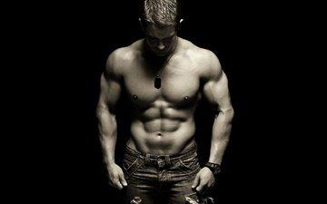 guy, press, torso, jock, muscle, h. b.