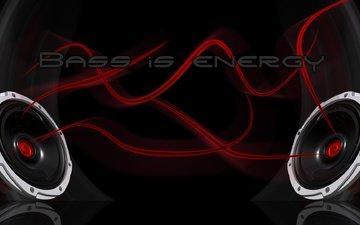 speakers, bass energy