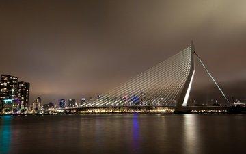 ночь, нидерланды, роттердам, городской пейзаж, cityscapes, the netherlands, ноч