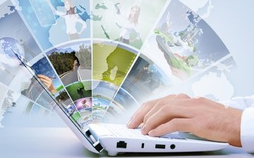 карта, руки, интернет, ноутбук, hi-tech, технологии