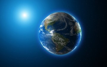 earth, planet, shadows, light